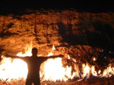 Yanar_Dag_Flaming_Hillside_dusk